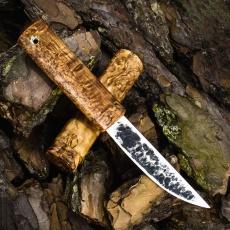 Нож ЯКУТ МАЛЫЙ, K340, карельская берёза