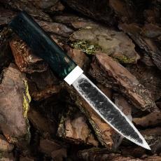 Нож ЯКУТ РЫБКА, D2, карельская берёза