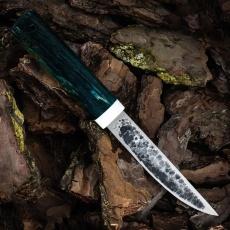 Нож ЯКУТ БОЛЬШОЙ, D2, карельская берёза