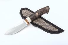 Нож СКИНЕР малый, CPM 125 V, стабилизированное дерево