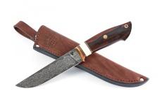 Нож ЛАДЬЯ-2, авторский мозаичный дамаск, айронвуд