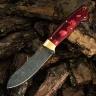 Нож ФИДЕЛЬ, БУЛАТ, стабилизированная карельская береза