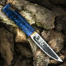 Нож ЯКУТ МАЛЫЙ, D2, карельская берёза