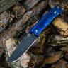 Цельнометаллический нож БРИГАДИР, БУЛАТ, стабилизированная карельская береза