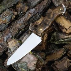 Цельнометаллический нож ДОДИЧИ, N690, корень ореха