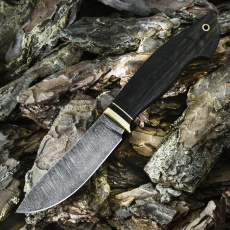 Охотничий нож СКИНЕР МАЛЫЙ, дамасская сталь, морёный дуб