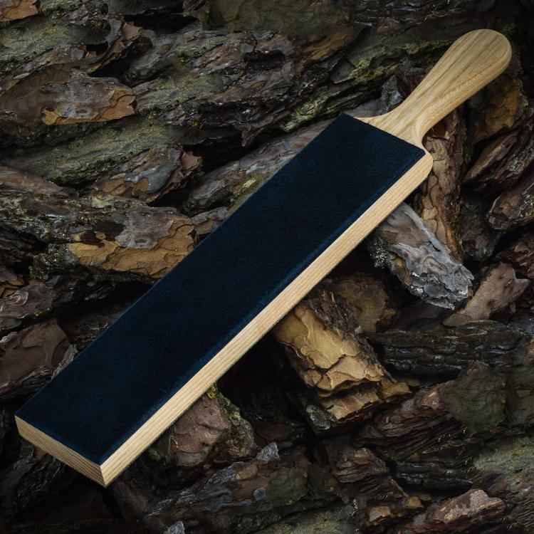 Доска из ясеня для правки ножей с эргономичной рукоятью