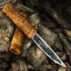 Нож ЯКУТ БОЛЬШОЙ, дамасская сталь, карельская берёза