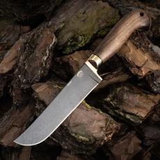Нож УЗБЕК, БУЛАТ, орех