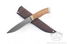 Нож Акула, дамасская сталь, амазакуе